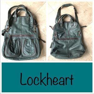 b9b8658bad LOCKHEART Giselle Folding Leather Satchel